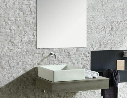 Mobile arredo bagno British sospeso (grigio) da 85 centimetri