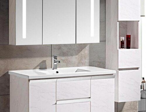 Mobile bagno Venice Stone bianco + colonna d'arredo