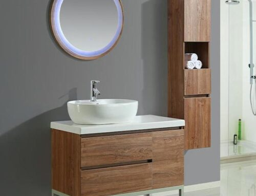 Mobile arredo bagno moderno modello Paris + colonna laterale