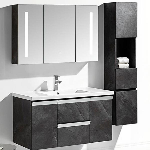 Set-mobile-bagno-Venice-Stone-grigio-antracite-+-colonna