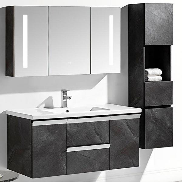 Set-mobile-bagno-sospeso-Venice-Stone-grigio-antracite-+-colonna